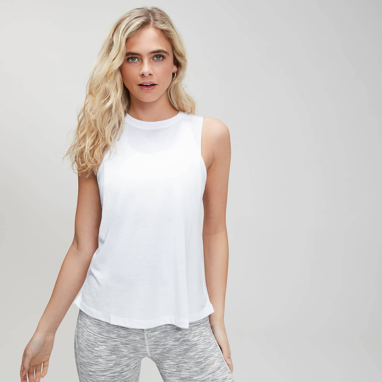 Mp Camiseta sin mangas con sisas caídas Essentials Training para mujer de  - Blanco - XL