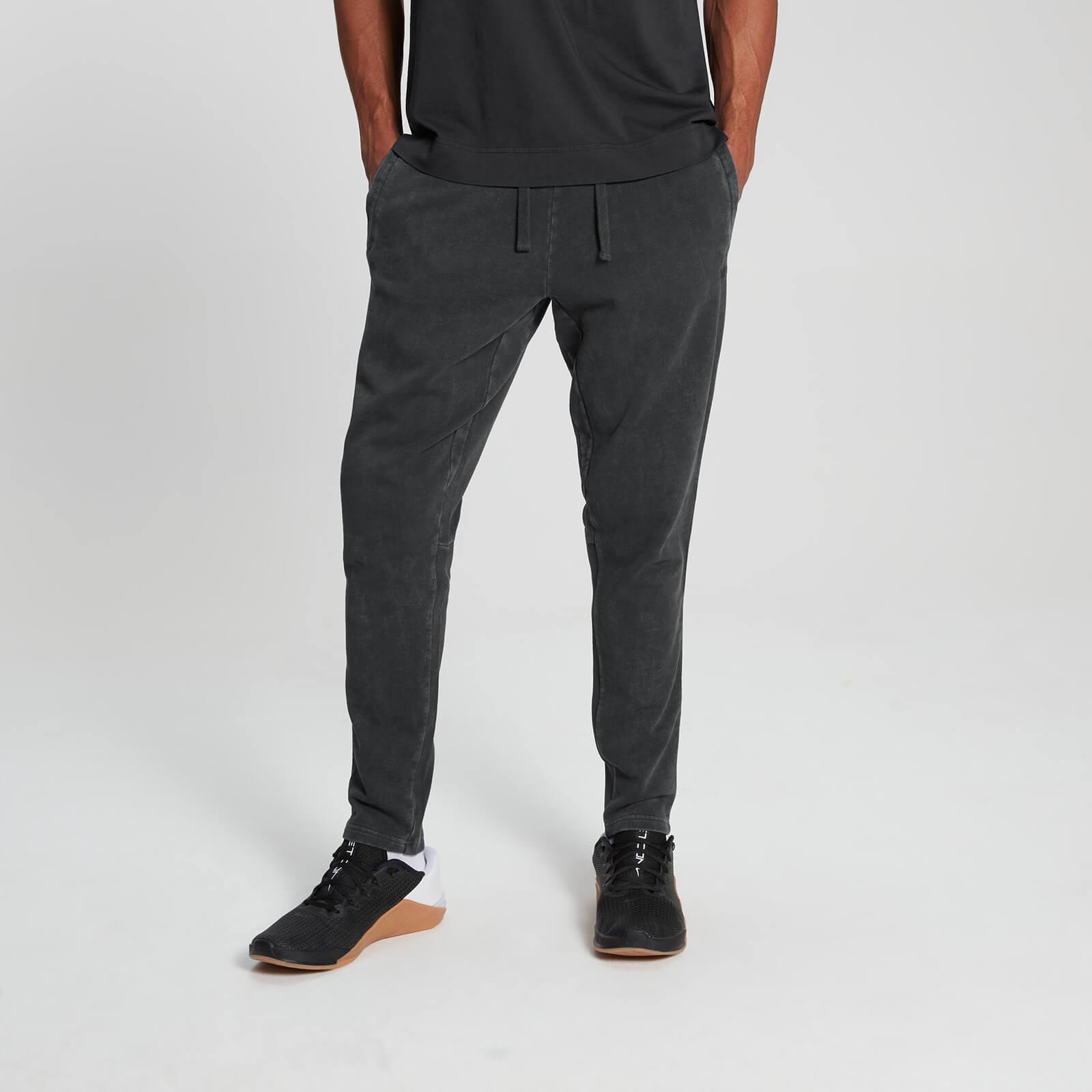 Mp Pantalón deportivo Raw Training para hombre - Negro lavado - S