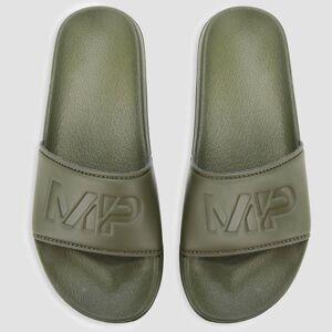 Myprotein Chanclas Sliders de Hombre - Verde Militar - UK 8