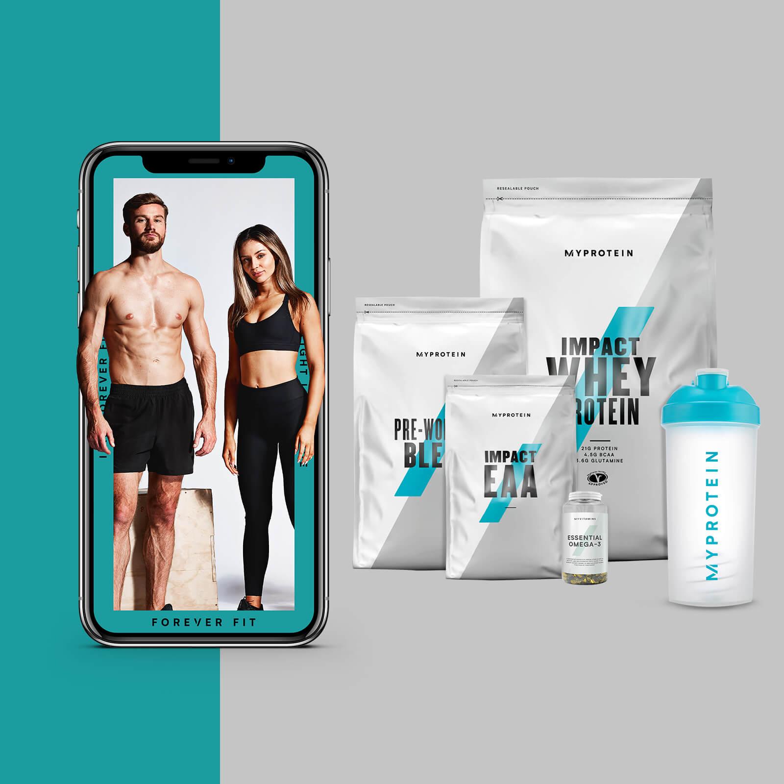 El Pack para Perder Peso + Guía de entrenamientos y nutrición - Blue Raspberry - EAA - Tropical - Natural Strawberry