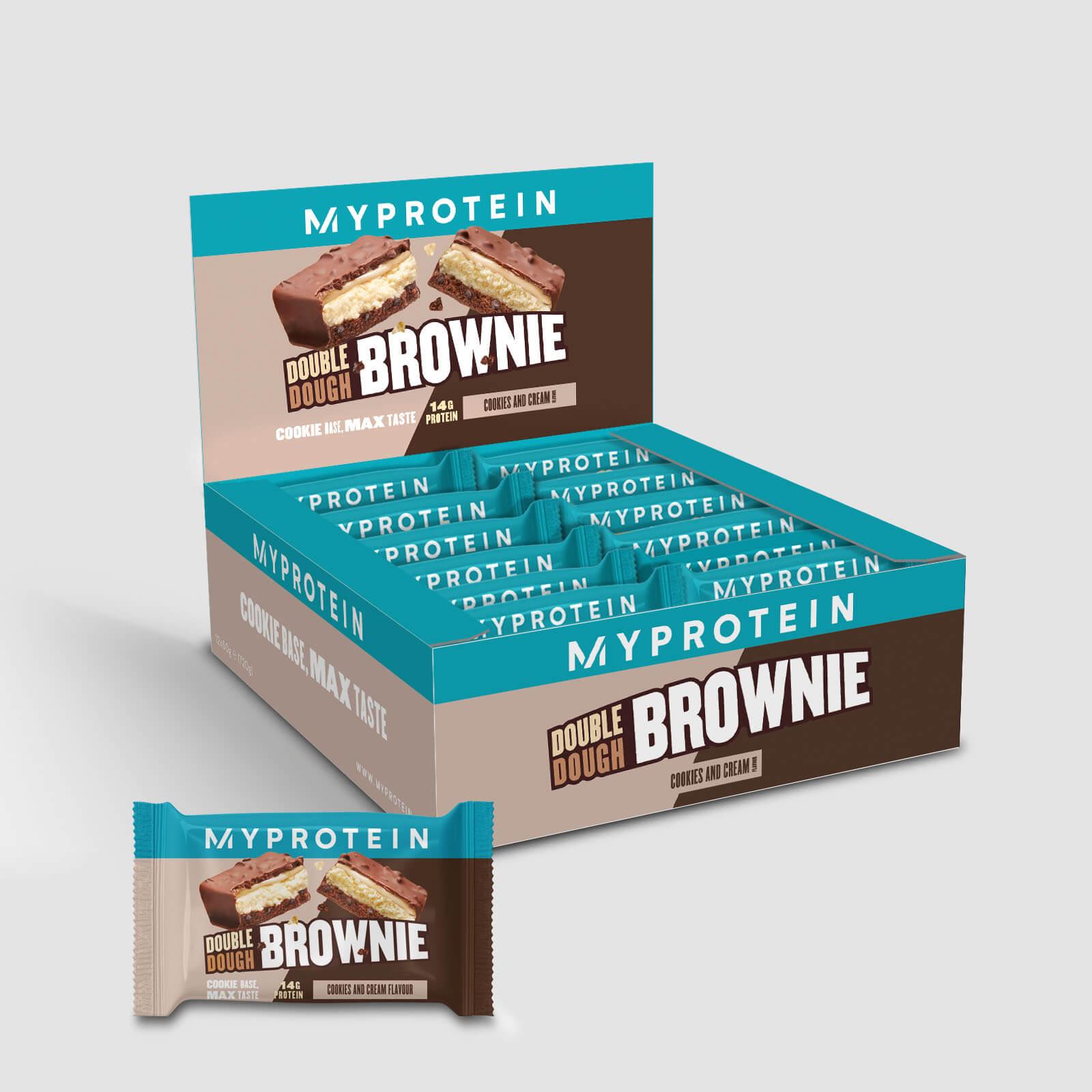 Myprotein Double Dough Brownie - 12 x 60g - Crema de Cookies