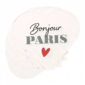 Maisons du Monde Servilletas corazón de papel con estampado (x20)