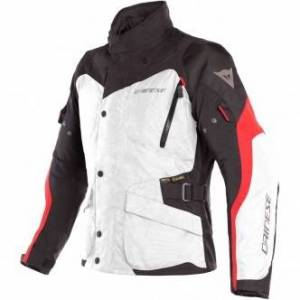 DAINESE Chaqueta Dainese Tempest 2 D-Dry Light Grey / Black / Tour Red