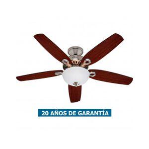 Hunter Ventilador De Techo Hunter Con Luz 50571 Builder Deluxe 132 Cereza Brasileña O Nogal Quemado / Cromo Pulido