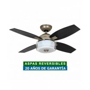 Hunter Ventilador De Techo Con Luz Hunter 50619 Central Park Roble O Roble Oscuro / Plata