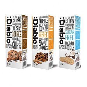 :Diablo Cookies con avellanas sin azúcar añadido  135g