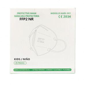OutletSalud Caja de 25 Mascarilla Infantil PEQUEÑA FFP2 norma EN149:2001 filtrado respiratorio marcado CE