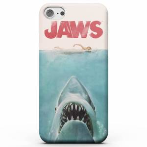 Jaws Funda Móvil Tiburón Poster para iPhone y Android - iPhone X - Carcasa doble capa - Mate