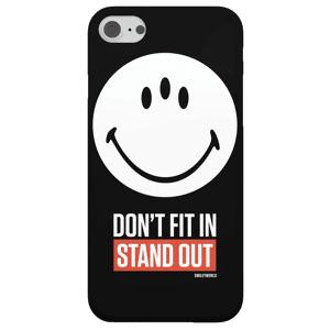 Smiley Funda Móvil Smiley World Slogan Don't Fit In, Stand Out para iPhone y Android - Samsung Note 8 - Carcasa rígida - Brillante