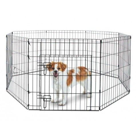 COMPLEMENTOS Parque Para Cachorros Metálico Con Puerta 63 X 60 Cm