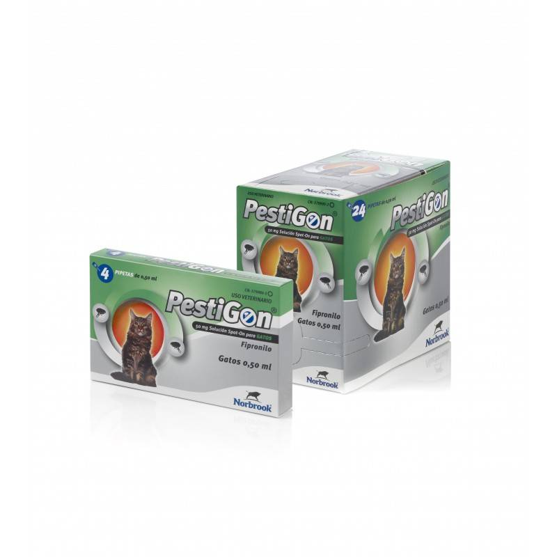 Karizoo Pestigon Gatos 24 Pipetas 0,5 Ml (+1kg)