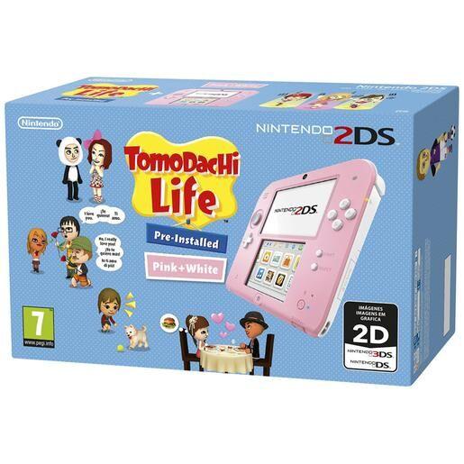 Nintendo - Consola 2Ds Rosa + Tomodachi Life (Preinstalado)
