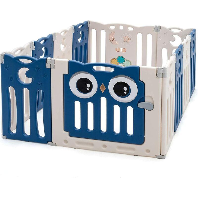 Costway - Parque Infantil Bebé de 12 Paneles Plegable Centro de