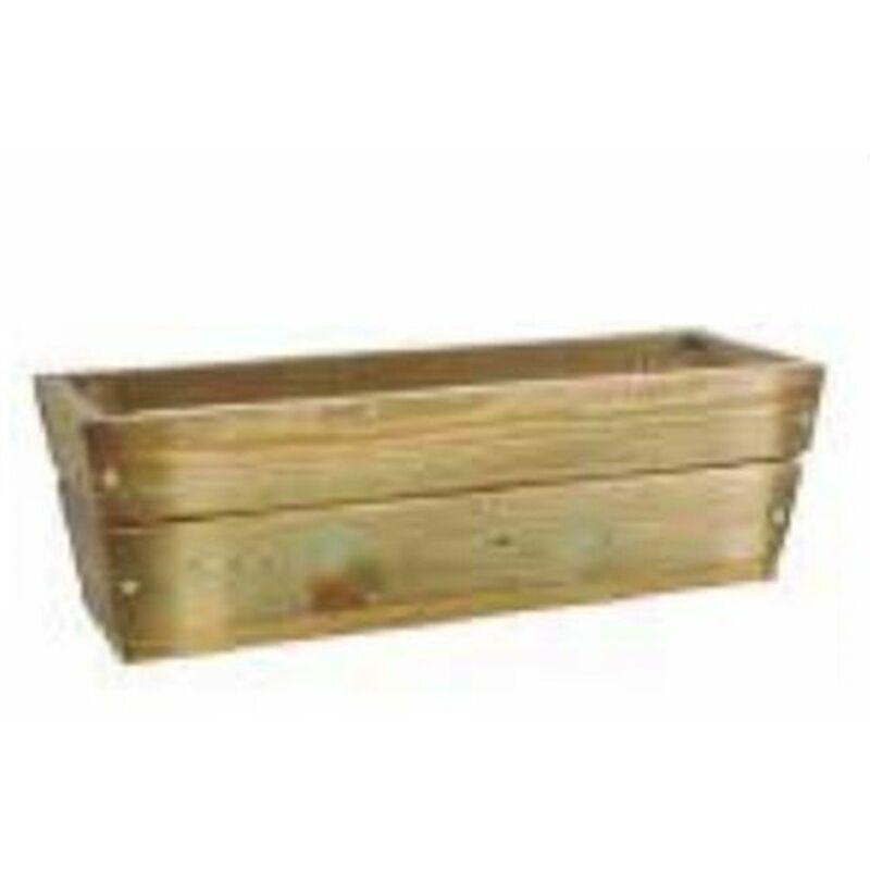 JARDIN202 Jardinera de madera rectangular para jardín   Madera de pino tratada