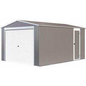 Habitat Et Jardin - Garaje en metal Nevada con puerta enrollable