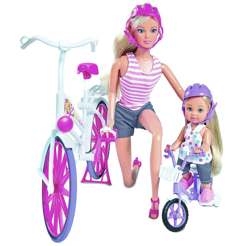 simba steffi love set steffi y evi con bicicleta 5733045