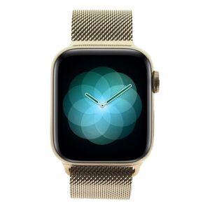 Apple Watch Series 4 - caja de acero inoxidable en oro 40mm - pulsera Milanesa rosa arena (GPS+Cellular) refurbished