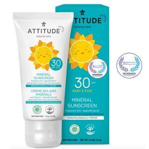 Attitude Crema solar 100% mineral FPS 30 Baby & Kids - sin perfume (75g.)