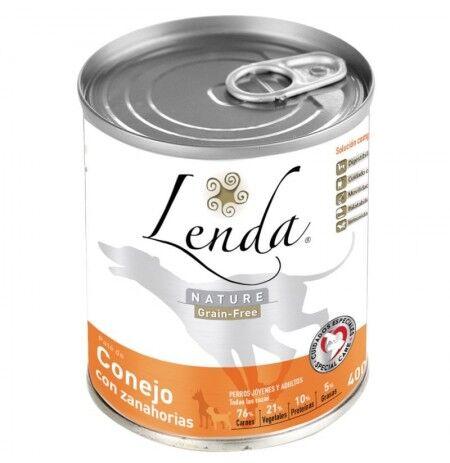 LENDA Lata Conejo Con Zanahorias Para Perros (Grain Free) 12 X 400g