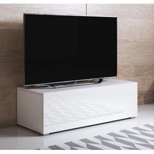 Mueble TV modelo Luke H1 (100x32cm) color blanco con patas estándar