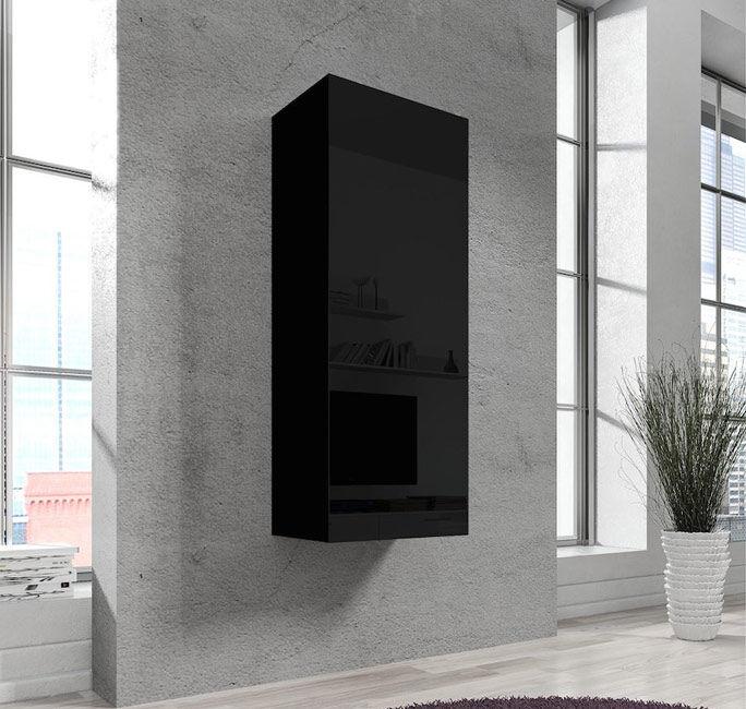 Armario Colgante modelo Nora V1 (40x126cm) en color negro