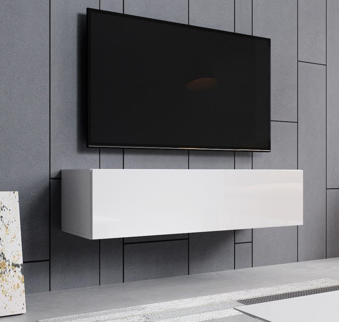 Mueble TV modelo modelo Aitana M1 (120x30cm) en color blanco