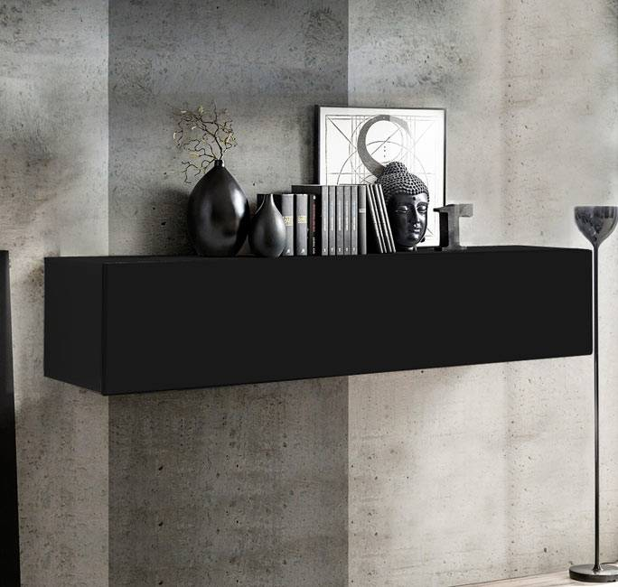 Armario colgante modelo Krista H-160 (160x30cm) en negro