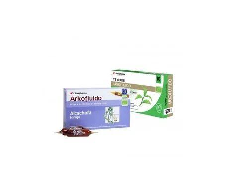 Arkopharma Arkofluido alcachofa 10amp + té verde 10amp