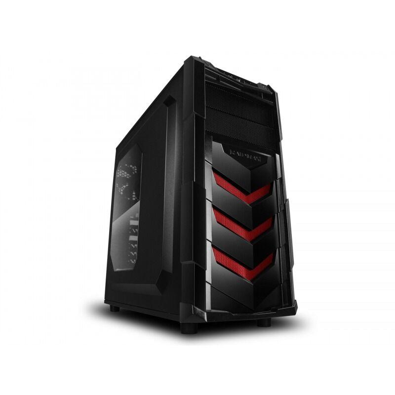 RaidMax Caja Gaming  Vortex V4 404WR ATX Mid Tower Gaming (Rojo)