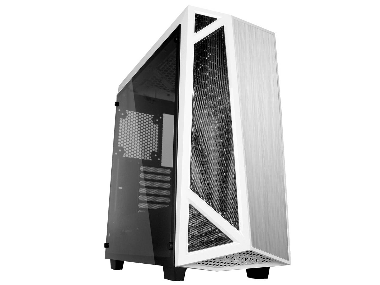 RaidMax Caja Gaming  Sigma I A14 TWS - ATX, Ventana lateral, Ventilador de 140mm LED Azul, 2x USB 3.0, Audio & Sonido Frontal, Blanco