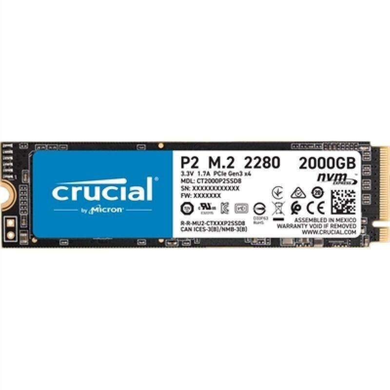 Crucial CT2000P2SSD8 P2 SSD 2000GB  NVMe PCIe