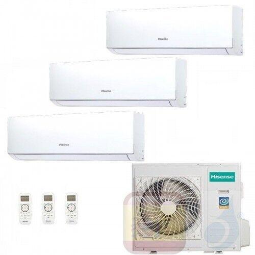 Hisense Aire Acondicionado Tres Split 7+7+18 Btu New Comfort Wifi Opc Dj20yd00g+ Dj20yd00g+ Dj50xa0ag+ 3amw72u4rfa A++ A+ R-32