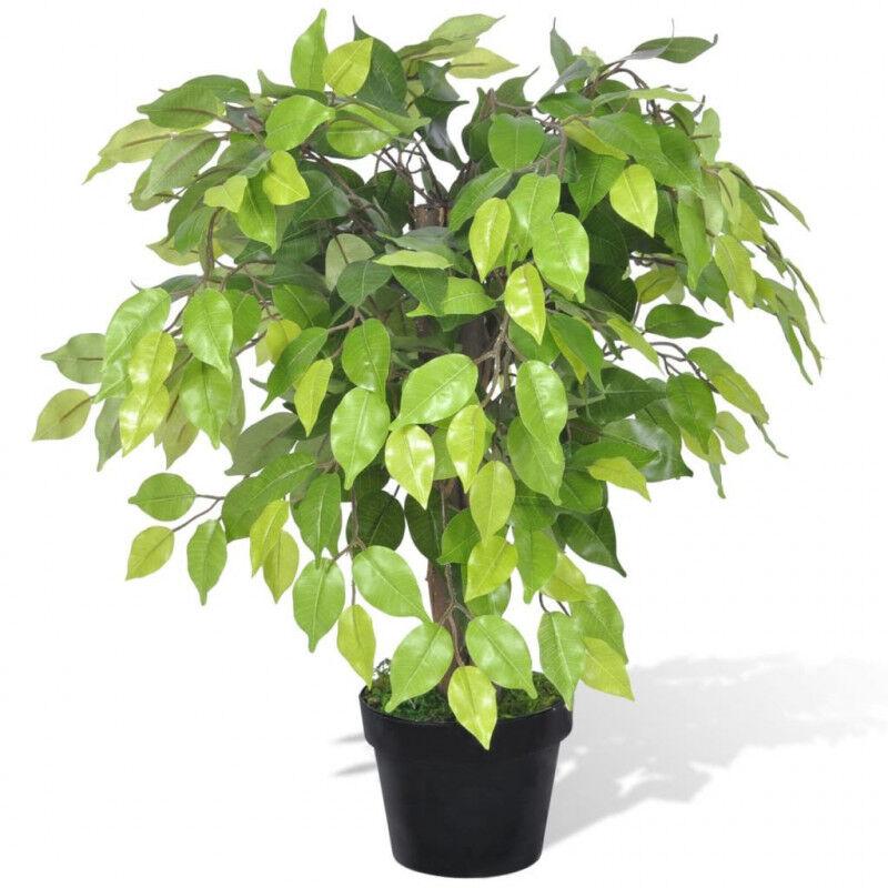 VidaXL Planta enana artificial de ficus enmaceta, 60cm Vida XL