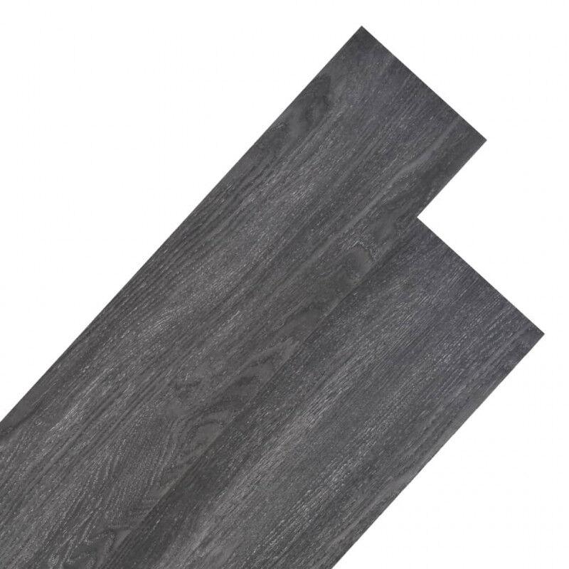 VidaXL Lama para suelo de PVC 5,26m² 2mm negro y blanco Vida XL