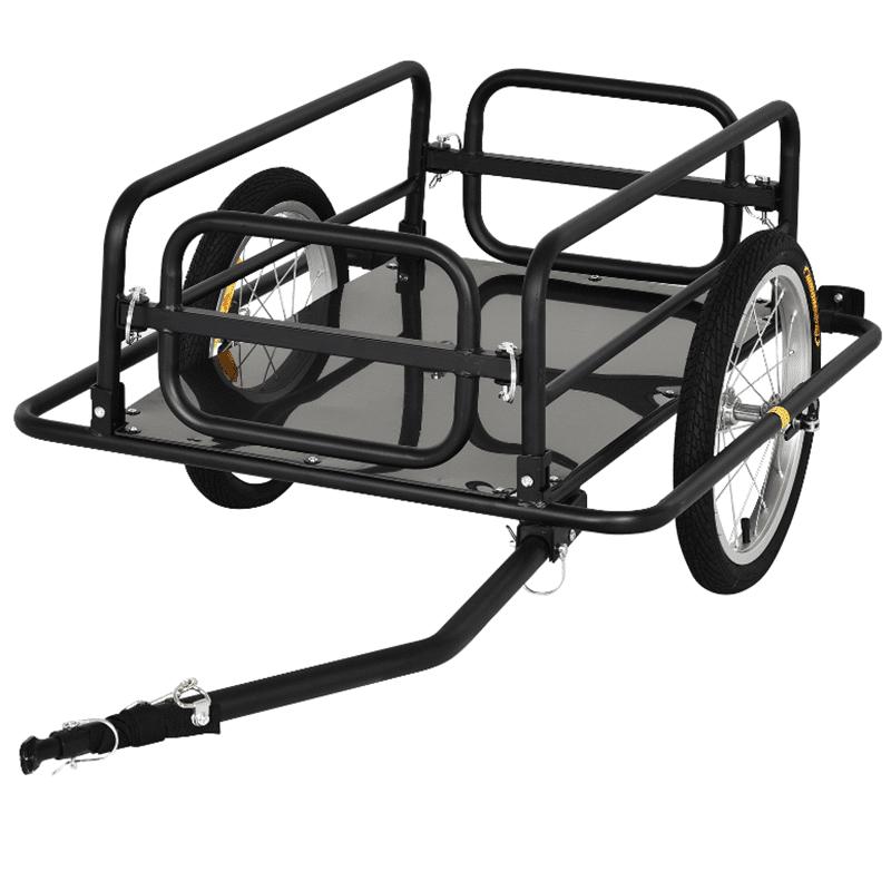 PawHut Remolque de bicicleta para carga 50kg PawHut