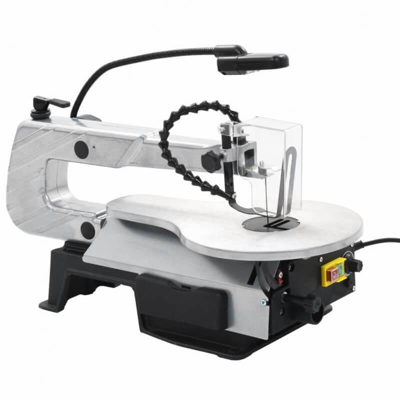 VidaXL Sierra de calar con luz acero profundidad de corte 406 mm Vida XL