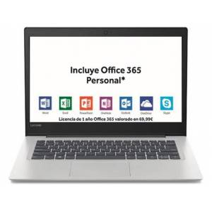 Lenovo Portátil 14'' LENOVO S130-14IGM (Intel Celeron - RAM: 4 GB - Disco duro: 64 GB eMMC)