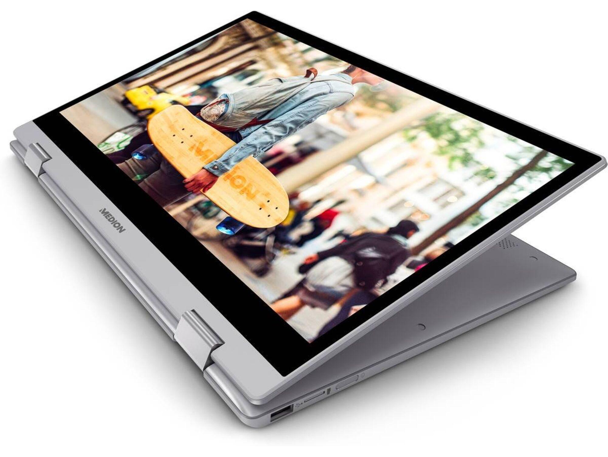 Medion Portátil Convertible 2 en 1 MEDION Akoya E4271-MD61264 - 30025795 (14'', Intel Pentium N5000, RAM: 4 GB, 128 GB SSD, Intel UHD 605)