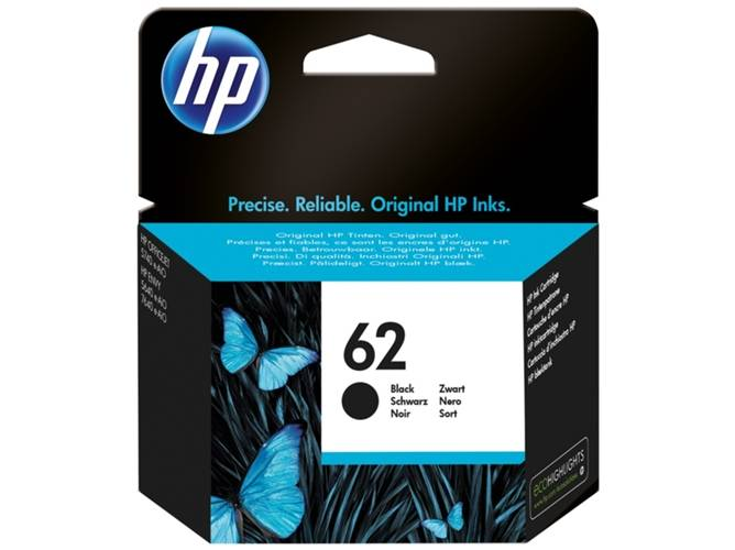 HP Cartucho de tinta Original HP 62 Negro para HP OfficeJet 5740 HP ENVY 5540, 5640, 7640