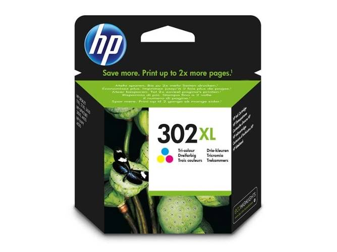 HP Cartucho de tinta HP 302XL color original (F6U67AE)