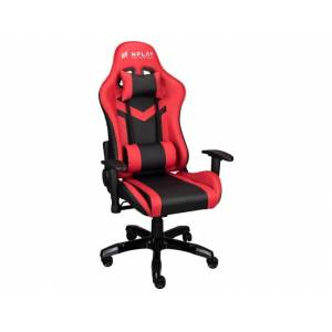 NPLAY Silla Gaming NPLAY Rule 4.0 (Hasta 130 kg - Elevador a Gas Clase 4 - Negro y Rojo)