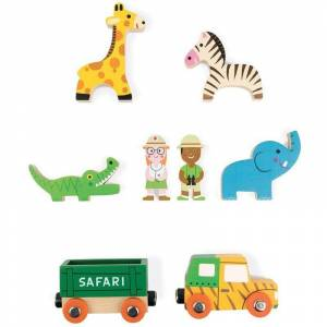 Janod Mini Story Janod Figuras De Madera Safari