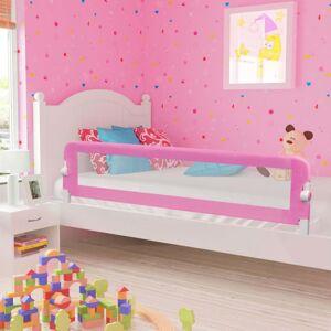 vidaXL barandilla de seguridad cama de niño poliéster rosa 180x42 cm Protección para el bebé Barandillas de seguridad