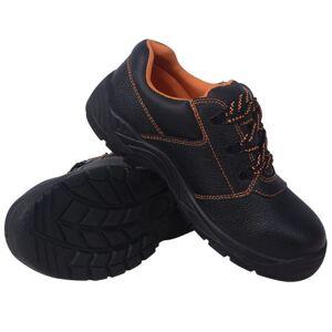vidaXL zapatos de seguridad negros talla 46 cuero Calzado Calzado