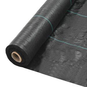 vidaXL estera de control de malezas y raíces pp 2x5 m negro Jardín Mallas antihierbas