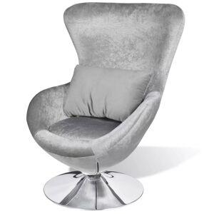 vidaXL sillón en forma de huevo plateado Sillas Sillones