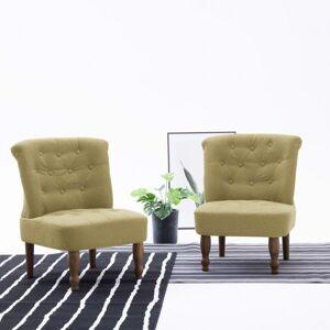 vidaXL sillón francés de tela verde Sillas Sillones