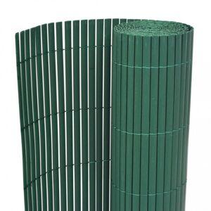 vidaXL valla de jardín de doble cara pvc verde 90x300 cm Vallas de jardín Paneles de vallas