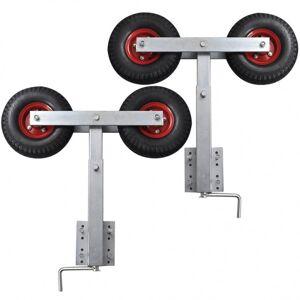 vidaXL set de 2 ruedas oscilantes para remolques de barca, 59 - 84 cm