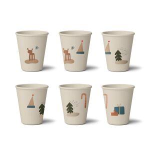 Liewood 6 Vasos Bambú Gertrud Holiday Mix